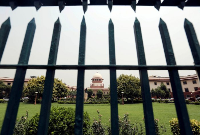 FILE PHOTO: Supreme Court of India is pictured through a gate in New Delhi. (Reuters)