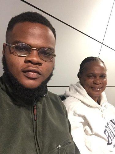 Tobi Ajisegbede with his mother, Juliet. SPECIAL ARRANGEMENT