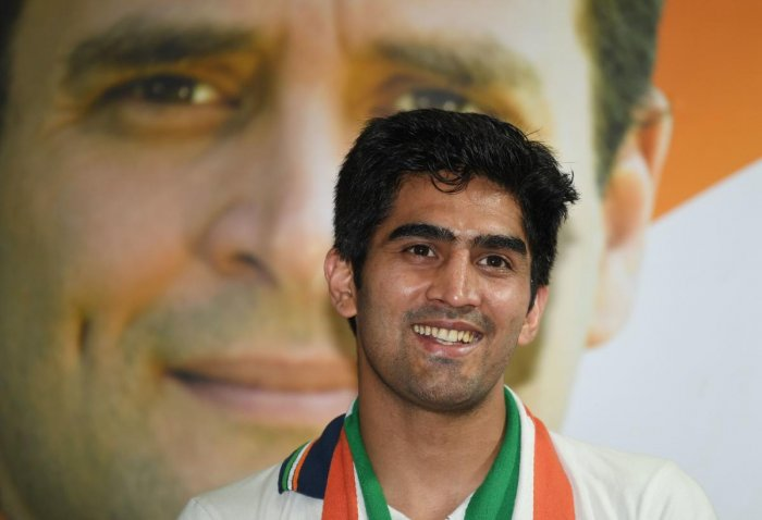 Singh said he idolises Priyanka Gandhi and admires her simplicity. AFP File photo