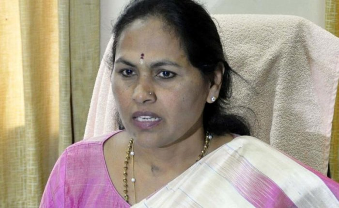 BJP general secretary Shobha Karandlaje said Patil tried to divide Lingayat/Veerashiva community during the 2018 Assembly polls. But his efforts boomeranged and the Congress lost the elections. (DH File Photo)