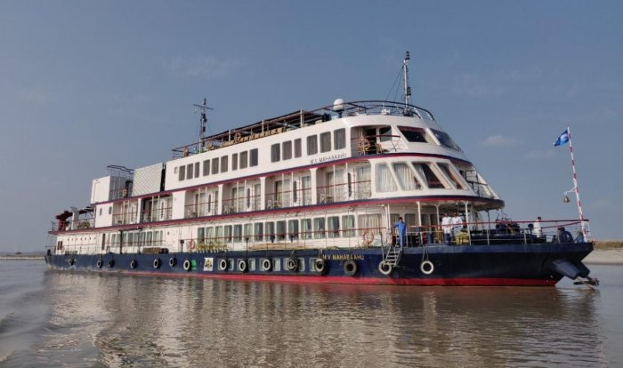 The cruise left the Pandu port on a 17-day voyage with 30 persons on board including nine foreign tourists.