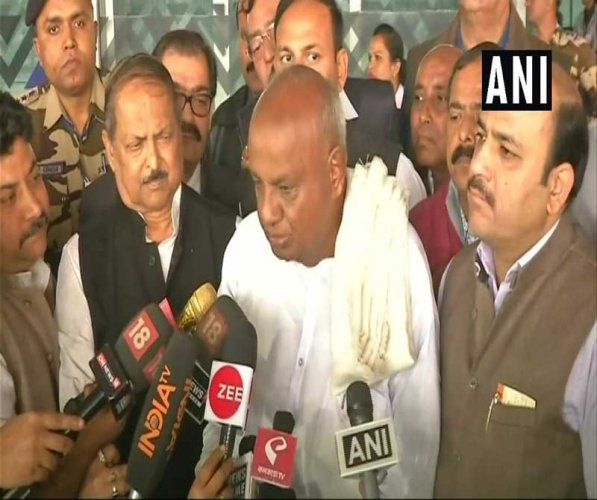 Gowda said Modi claims that coalition government is unstable and cannot achieve anything, but the opposition has to show that it can give a stable government and develop the nation. ANI Photo