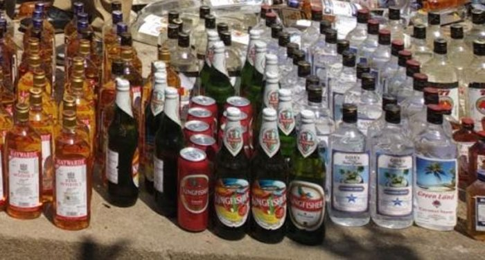 Jamkhandi tahsildar Chandrashekhar Gali has said that liquor worth Rs 20 lakh, stocked in 1,150 cases was seized for violation of model code of code which in force in view of the forthcoming Lok Sabha election. (DH File Photo. For representation purpose)