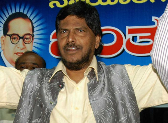 RPI (A) president and Union Minister for Social Welfare Ramdas Athawale. DH File photo