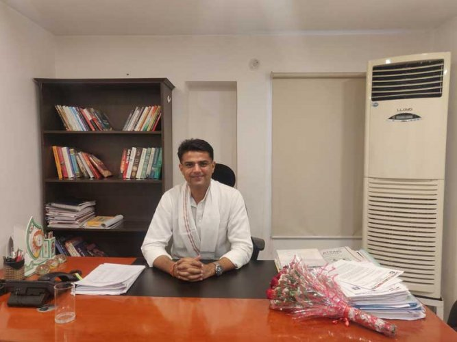 With the conclusion of the first phase of polling in Rajasthan, state Congress president and Deputy Chief Minister Sachin Pilot is confident of sweeping most of the 25 seats. (DH Photo)