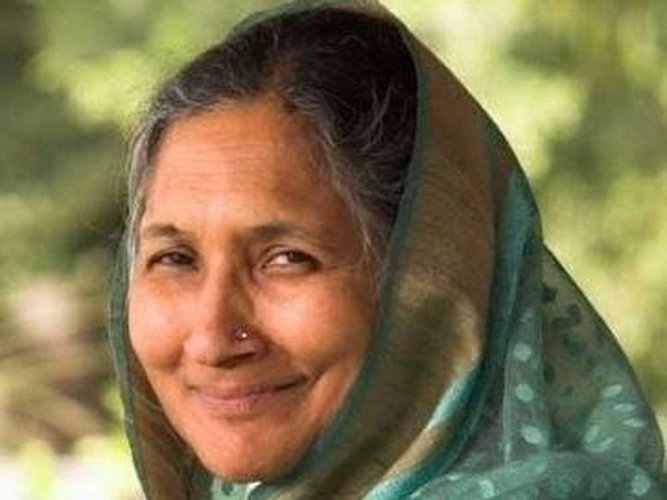 Savitri Jindal, 69, is the chairperson emeritus of the Jindal Group which has business interests in steel, power, cement, infrastructure and other areas. (Image courtesy Twitter)
