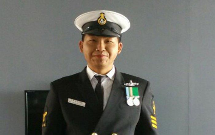 Former Navy sailor from Mizoram and Lok Sabha election candidate, TBC Lalvenchhunga. DH photo