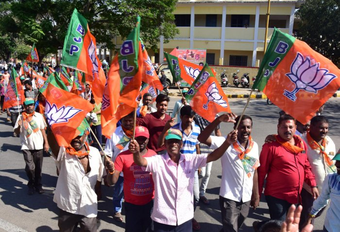 Of the money collected by BJP's central and state units, the party spent Rs 139.04 crore for the elections. (DH File Photo)