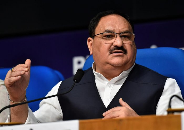 """We shall increase our tally of Lok Sabha seats from the state by winning 74 seats, one more than last time,"" Nadda told reporters. (PTI File Photo)"