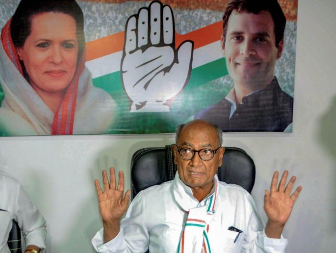 Senior Congress leader Digvijaya Singh on Monday said that I am ready to contest from any seat the party chooses for me. PTI file photo