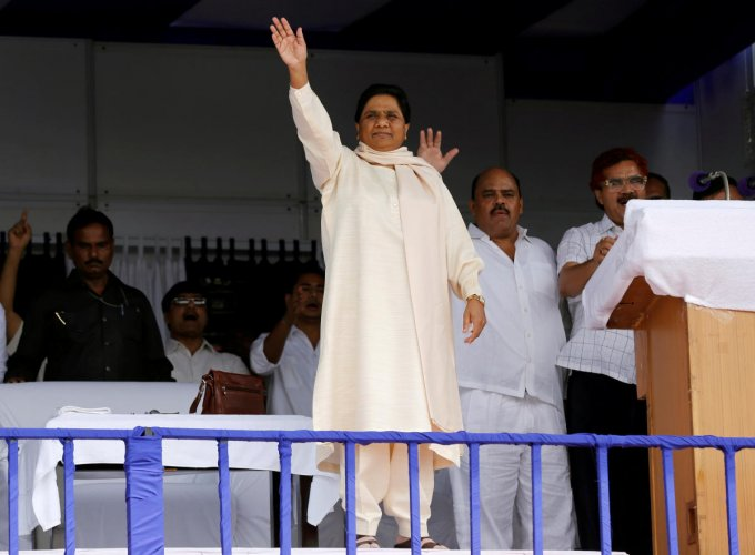 Mayawati's counter came hours after BJP president Amit Shah attacked the alliance at a meeting of booth-level workers in Aligarh. (Reuters File Photo)