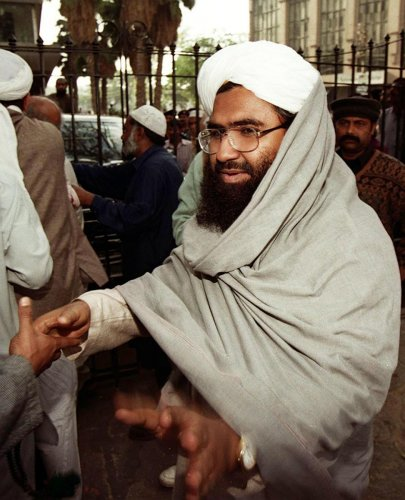 """In a major diplomatic win for India, the United Nations designated Pakistan-based Azhar as a """"global terrorist"""" after China lifted its hold on a proposal by the US, the UK and France to blacklist him. (AFP File Photo)"""