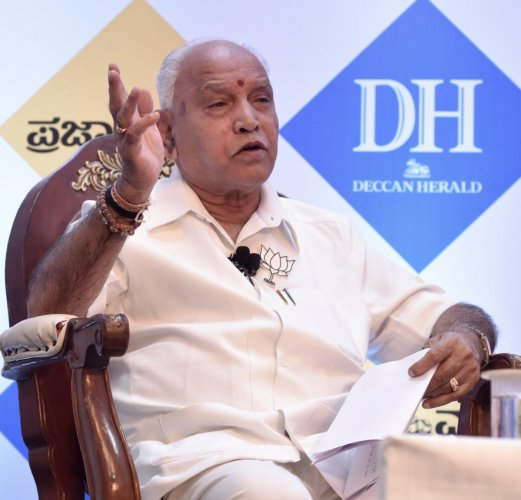 During an interaction with DH and Prajavani, Yeddyurappa said Sumalatha's growing popularity cannot be ignored. (DH Photo)
