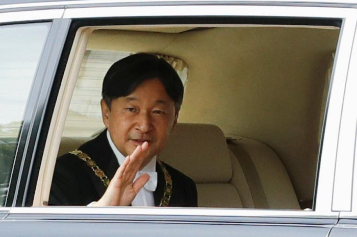 """Naruhito promised to """"bear in mind the path trodden by past emperors"""" and devote himself to """"self-improvement"""". Reuters photo"""