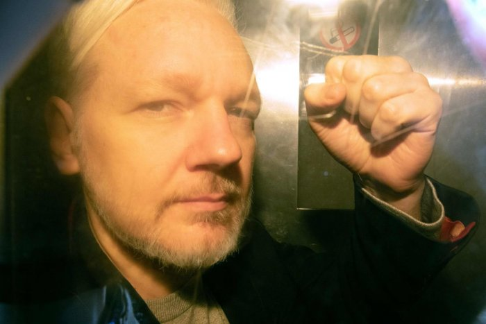 WikiLeaks founder Julian Assange arrives at court in London. AFP photo
