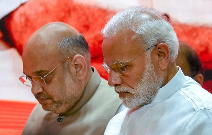 Prime Minister Narendra Modi and Senior BJP leader Amit Shah. PTI file photo
