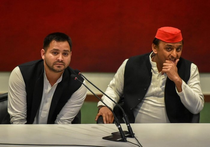 Tejashwi's praise for the BSP and SP presidents has come at a time when the two regional outfits in Uttar Pradesh have dumped Congress, while the RJD in Bihar is struggling to reach a seat-sharing arrangement with the grand old party. PTI photo