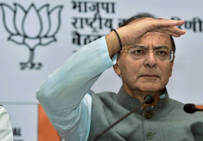 """Training guns on Priyanka Gandhi Vadra over her remarks that Congress will cut into the votes of the BJP, Finance Minister Arun Jaitley said this is a """"confessional statement of becoming a fringe organization"""" what the Congress leader said about being """"votekatua party"""". (PTI File Photo)"""