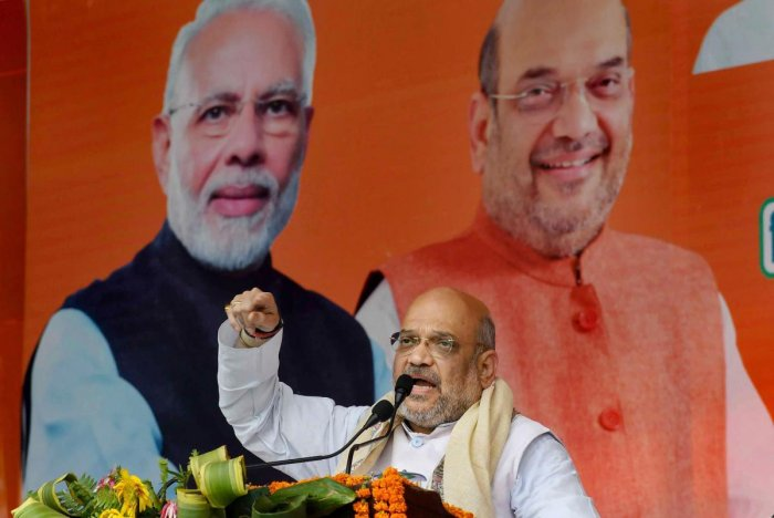 Addressing a poll rally here in Rajgarh district of Madhya Pradesh, ahead of the second phase of polling in the state, Shah said Prime Minister Narendra Modi hasn't taken even a single day's leave since he assumed office in 2014. PTI File photo