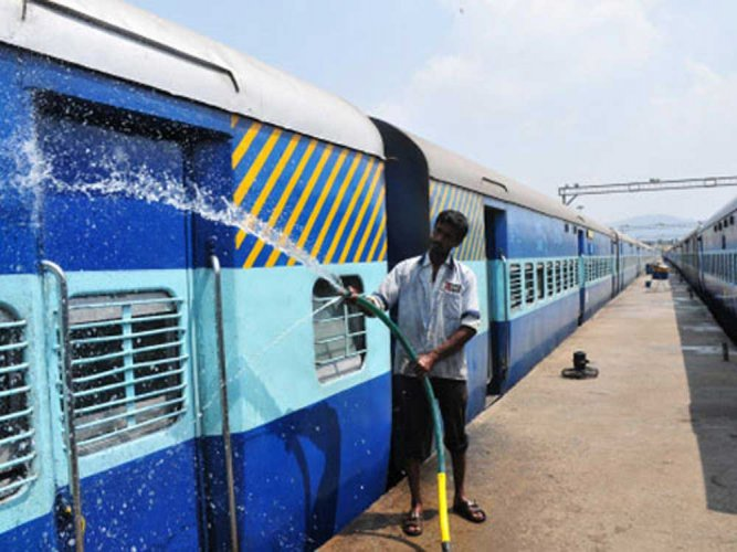 The railways' decision to cancel four trains, including two suburban services to Hosur, for nearly a month from May 4 to 31 has not gone down well with passengers and rail activists who pointed out that thousands of passengers will be denied affordable transport. (DH File Photo)