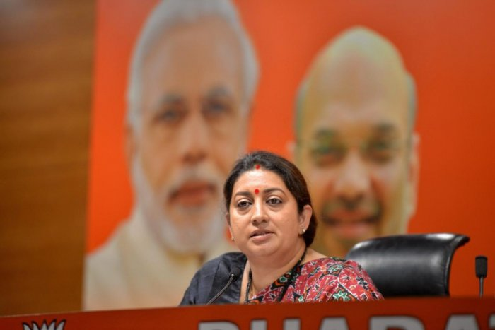 Union minister Smriti Irani. PTI File photo