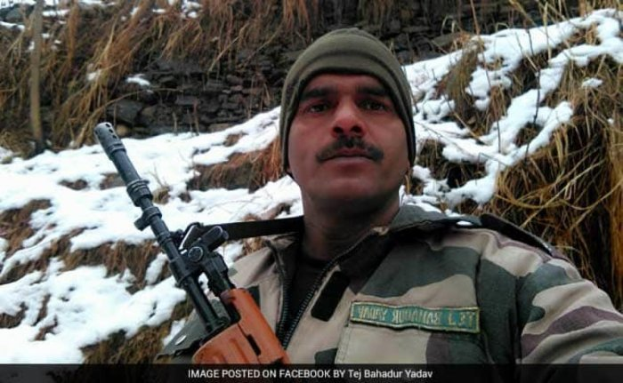 Yadav had uploaded a video on social media in 2017, complaining that poor quality food was being served to the troops in icy, mountainous region along the Line of Control in Jammu and Kashmir. File photo