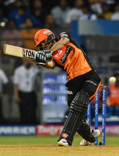 GUTSY: Sunrisers Hyderabad's Manish Pandey slammed an unbeaten 71 against Mumbai Indians to take the game to Super Over at the Wankhede Stadium on Thursday.AFP
