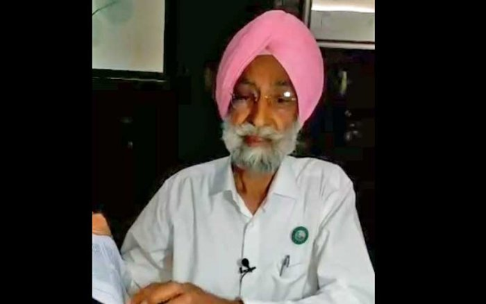 Bhupinder Singh Mann, National president of Bharatiya Kisan Union. (Screengrab)