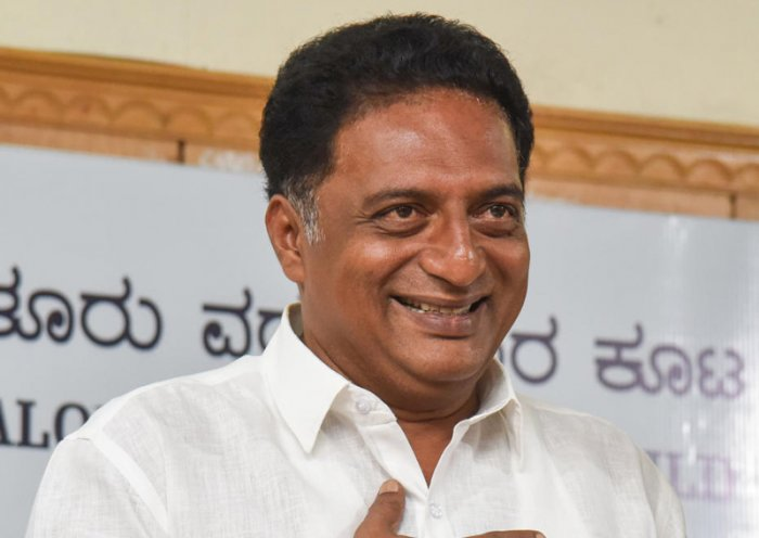 Prakash Raj, a vocal critic of the Narendra Modi government who also contested from Bengaluru Central Lok Sabha seat this time as an independent candidate, will also address a meeting of south Indian voters seeking their support for AAP candidates. (DH File Photo)