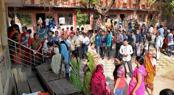 Nearly 60 per cent polling was recorded till 3 pm in Chhattisgarh's three Lok Sabha seats on Thursday as people stood in long queues and braved the scorching heat to cast their votes, an official said. PTI file photo for representation