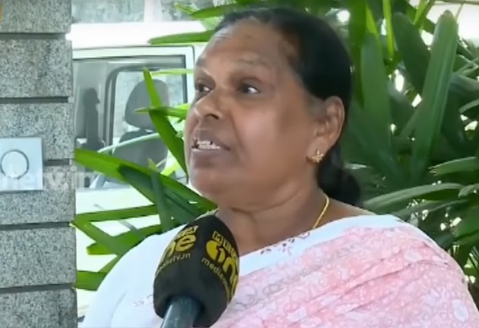 Rajamma Vavathil, a retired nurse in Wayanad. (Screengrab from MediaOne TV)