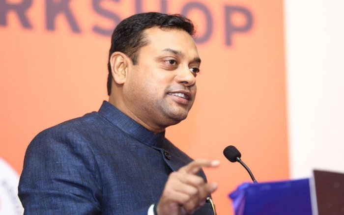 Sambit Patra, BJP's national spokesperson known for his frequent appearances on TV channels, has been courting controversies since his arrival in his home state Odisha to fight his maiden electoral battle. File photo
