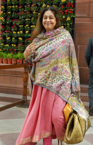The Election Commission has issued a notice to BJP's Chandigarh candidate Kirron Kher, seeking a reply after she shared a video on Twitter in which children were seen campaigning for her. PTI File photo