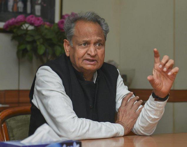 Rajasthan Chief Minister Ashok Gehlot. PTI File photo