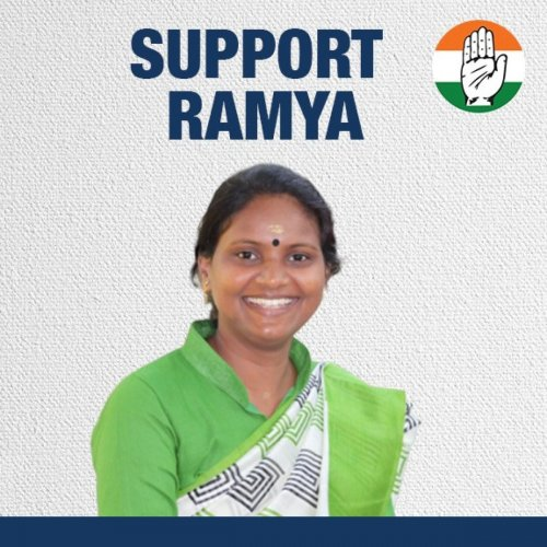 A picture of Ramya Haridas from the website set up to donate to her campaign.