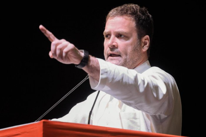 """""""The 2019 polls are a fight between two ideologies. On one hand are the BJP, the RSS and Narendra Modi and on the other is the Congress,"""" he said. (PTI Photo)"""