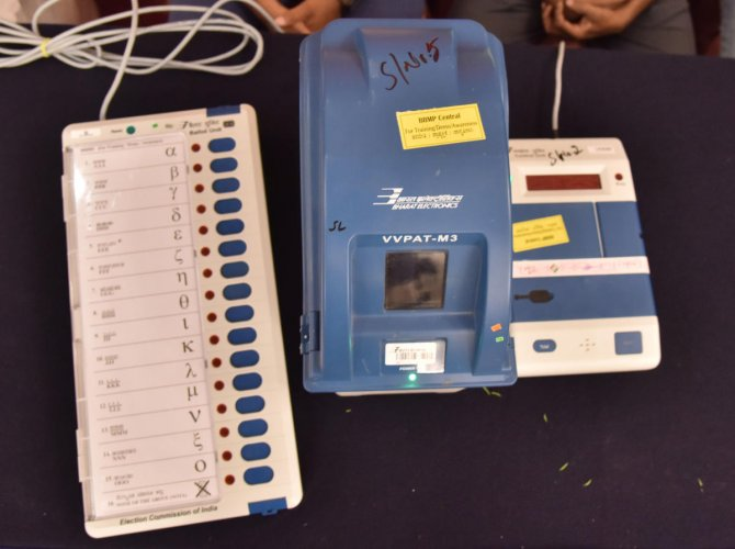 EC sought dismissal of their petition seeking that VVPAT slips of at least 50 per cent of voting machines in each assembly constituency be checked randomly in the Lok Sabha elections next month. (DH File Photo)