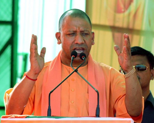 """Shame!,"" said Adityanath, condemning Khan's remark and the two former chief ministers' silence over the jibe. PTI File photo"