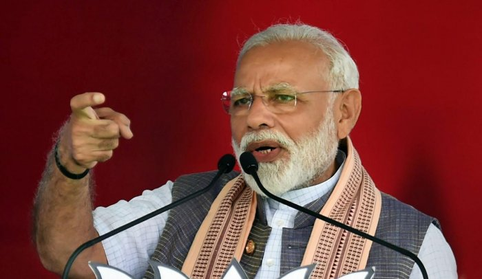 Addressing a campaign rally at Surendranagar in Gujarat, Modi was referring to the surgical strikes and air strikes conducted by the country's forces inside Pakistan in response to terrorist attacks in Uri and Pulwama. PTI File photo