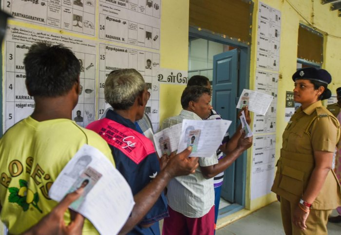 Inmates of the Institute of Mental Health cast their votes at a polling booth during the second phase of the 2019 Lok Sabha elections, in Chennai, Thursday, April 18, 2019. PTI photo
