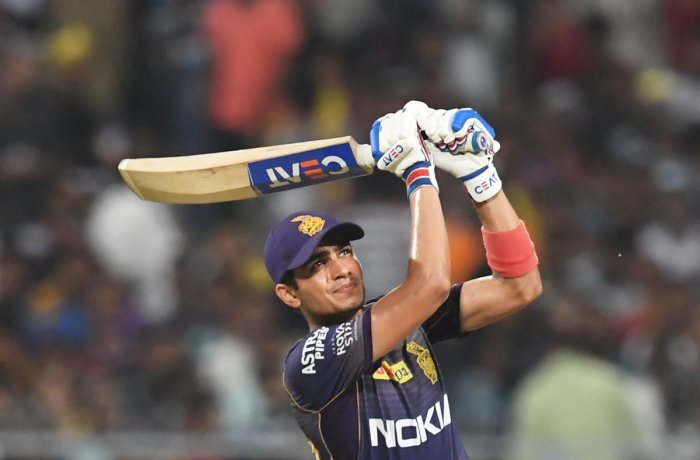 CONFIDENT: KKR's Shubhamn Gill will look to offer a strong start with Chris Lynn in their crucial game against Mumbai Indians. AFP