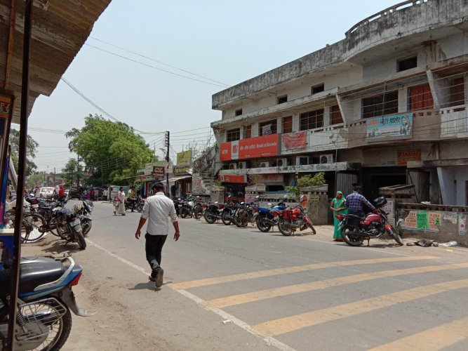 A view of a street in Amethi. DH Photo/B S Arun