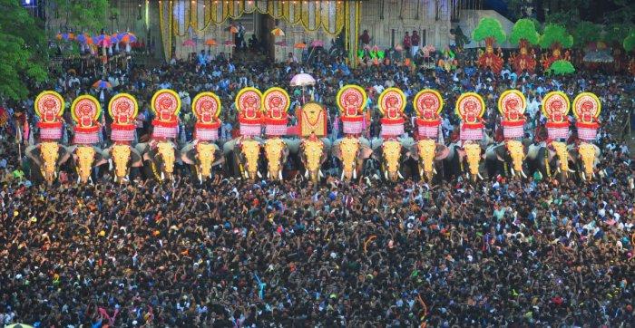 Thrissur Pooram. File photo