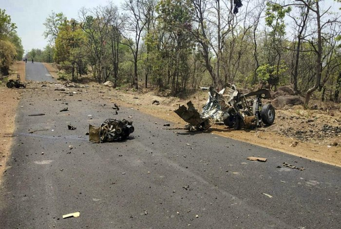 Gadchiroli Superintendent of Police Shailesh Balkawde Sunday said several teams have been formed to investigate the Naxal attack. PTI File photo