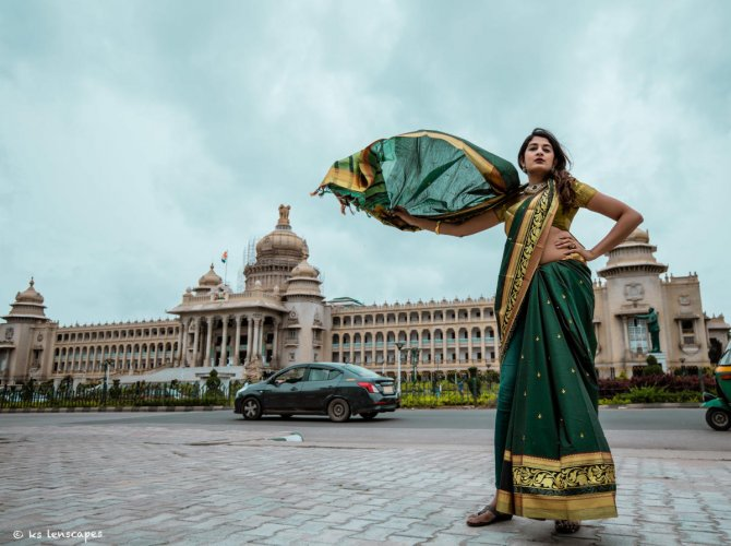 Fashion blogger Nandini Swaminathan says that draping experiments offer fun takes on the regular sari.