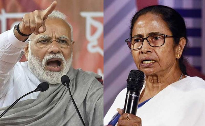 Prime Minister Narendra Modi and West Bengal Chief Minister Mamata Banerjee. PTI file photo