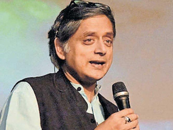Congress sitting MP Shashi Tharoor. DH file photo
