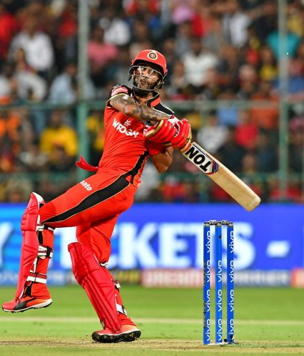 Gurkeerat Mann struck a well-paced 65 (47b) to fashion RCB's consolation win in their last league match against SRH. DH Photo/ Ranju P