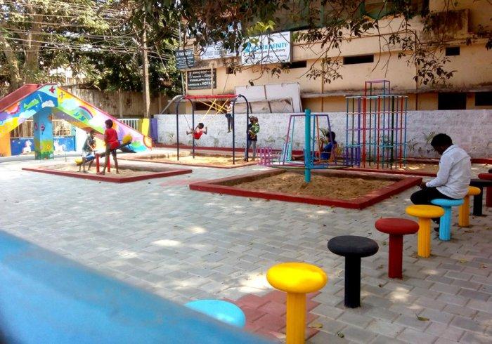 Renovated Children's Park at Police Lane in Pandeshwara.