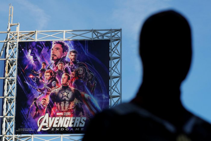 """An Avengers fan in costume arrives at the TCL Chinese Theatre in Hollywood to attend the opening screening of """"Avengers: Endgame"""" in Los Angeles, California, US. Reuters photo"""